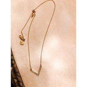 Michael Kors Gold Tone Pendant Necklace